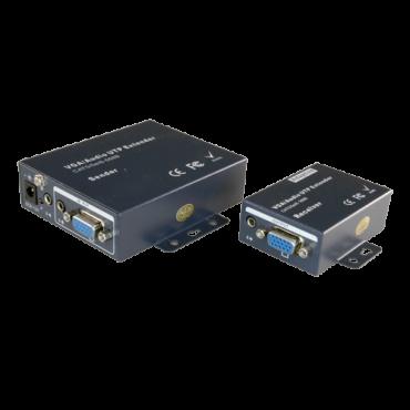 VGA-EXT: VGA / Audio signal extender via UTP category 5 / 5e / 6, Maximum length 100 metres, Supports resolution 1920x1440