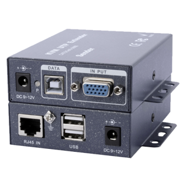 VGA-KVM-EXT: VGA / USB signal extender via UTP category 5 / 5e / 6, Maximum length 100 metres, Send a VGA video signal, USB keyboard and mouse via UTP
