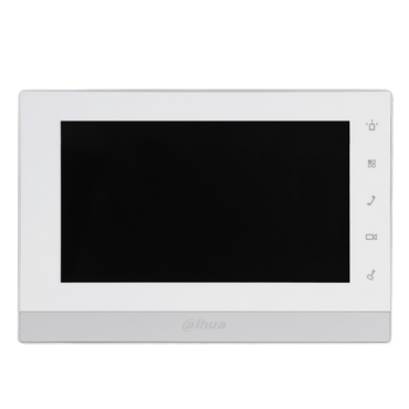 """XS-V1550-2: Video Intercom Monitor - 7"""" LCD TFT Screen - 3 groups of 2 wire ports - 6 alarm inputs - MicroSD slot - Surface or flush mounting"""