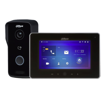 VTK-S2111-IPW : IP Video Intercom Kit with WiFi, Includes plate, monitor, Protection IP65, Mifare card reader, Mobile App with P2P, Surface mounting