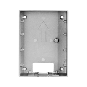 VTM115: X-Security - Surface support for Villa video intercom XS-V2202E-(X) - A module - 129mm (H) x 95mm (W) x 28,5mm (D) - Made of aluminium alloy - Versatile connection, cable entrances on all sides
