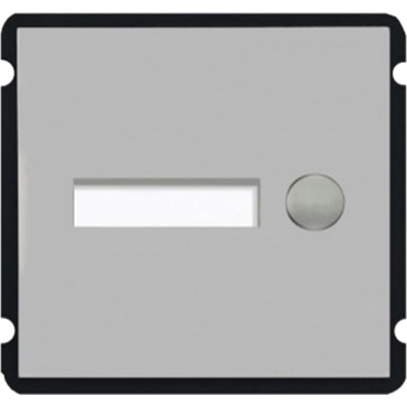 XS-V2000E-M1B: Extension module - Compatible with XS-V2000E-MIP - Single button / li> - 1 Custom label with LED - Stainless steel, vandal proof - Modular