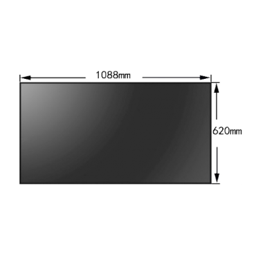 """VW-FHD55-35-HDMI: LED monitor 55"""" - Specific for Video Wall - Format 16:9 - HDMI, DVI, VGA, AV, RS232 and RJ45 - Resolution 1920x1080 - Total margin of 3.5mm"""