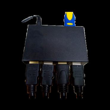 VW-SPLIT-1X4: Video Wall HDMI Splitter - 1 HDMI input - 4 HDMI output - Full HD resolution (1920x1080) - Allows to split the input signal between 4 HDMI output