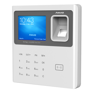 W1-MIFARE: ANVIZ Time & Attendance Terminal - Fingerprints, RFID cards and keyboard - 3000 recordings / 100000 records - TCP/IP, USB Flash - 8 Time & Attendance control modes - Free CrossChex cloud software
