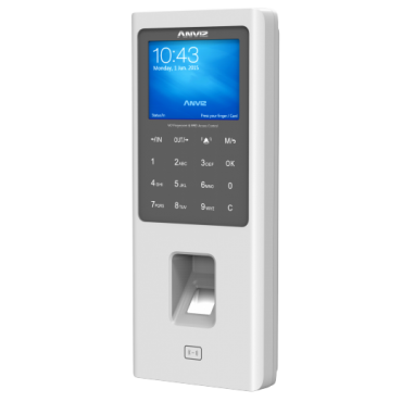 W2-MIFARE: ANVIZ autonomous biometric reader - Fingerprints, Mifare and keyboard - 3000 recordings / 100000 records - TCP/IP, RS485, miniUSB, Wiegand 26 - Integrated controller - Anviz CrossChex Cloud Function