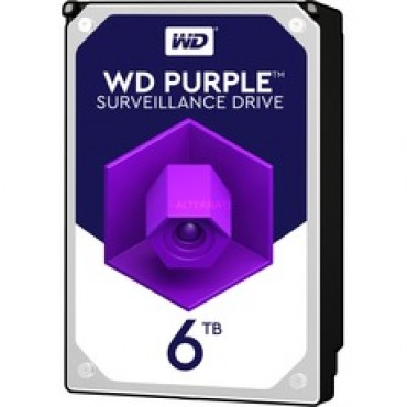 HD6TB: Western Digital Hard Disk Drive - Capacity 6 TB - SATA interface 6 GB/s - Model WD60PURX - Especially for Video Recorders - Loose or installed in DVR