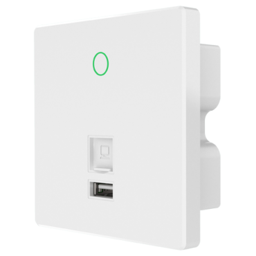 WIFI5-AP750-INWALL-AC: Wifi access point 5 - Frequency 2.4 and 5 GHz - Supports 802.11 ac / n / g / b - Transmission speed up to 750 Mbps - Installation in mechanism boxes - INWALL WiFi Controller Compatible