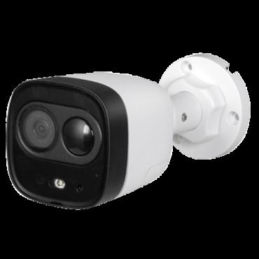 XS-B040PIRL-5PHAC: HDCVI bullet camera - Active Deterrence Pro Range - 5Mpix resolution - 2.8 mm Lens - Deterrent light and built-in siren - PIR detection up to 10 meters