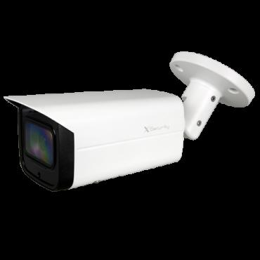 "XS-CV830SZWA-4KC: HDCVI bullet camera X-Security - 1/2 ""Progressive CMOS 8 Megapixel Starlight - Varifocal Motorized Lens 3.7 ~ 11mm Autofocus - WDR (120dB) - 4 LEDs IR Array Reach 80 m - Waterproof IP67"
