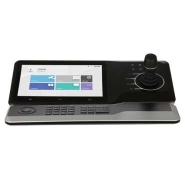 """XS-KB5000NK: IP Keyboard Driver 3D Domes - LED screen 10 """" - RS485 / RS422 / RJ45 connection - WiFi   Ethernet   USB   HDMI - Joystick 3 axis and mini keyboard - Up to 4 channels 4K or 16 to 1080p"""