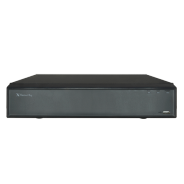 XS-NVR2104-4KH: X-Security NVR for IP cameras - 4 CH IP video - Maximum recording resolution 8 Mpx - Compression H.265 / H.264 - Outputs 4K HDMI & VGA - Supports 1 hard disk