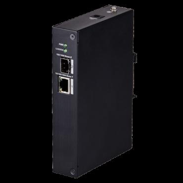 XS-SW02FC-DIN: X-Security - Desktop Switch - 1 port RJ45 + 1 SFP fiber port - Speed 100/1000Mbps - Plug & Play - Energy Saving Technology