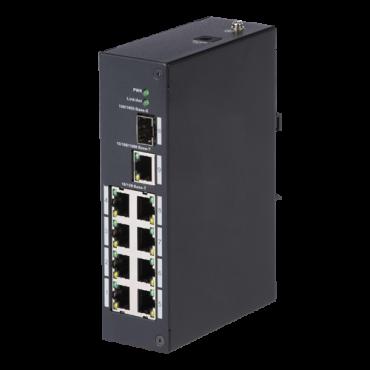 XS-SW09: X-Security - Desktop Switch - 8 ports RJ45 + 2 Gigabit Combo Port - Speed 10/100Mbps - Plug & Play - Energy Saving Technology