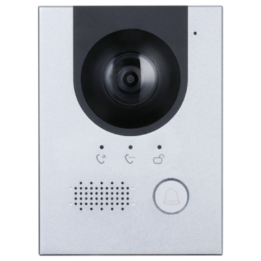 XS-V2202E-IP: Video intercom system 2 wires or IP - Camera 2Mpx - IR night vision - Bidirectional audio - Can be powered by PoE - Stainless steel, vandal proof