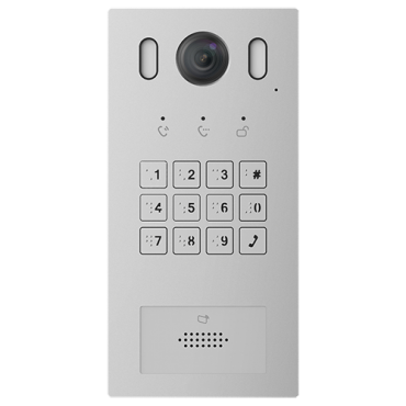 XS-V3221E-IP: IP Video Intercom for villa - Camera 2Mpx - Bidirectional audio - Mobile App for remote monitoring - Access by code or Mifare card - Powered via standard PoE