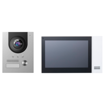 XS-VTK2202-IP: Video-intercom kit - IP and PoE Technology - Includes panel and monitor - Bracket and power supply - Mobile App with P2P - Surface mounting