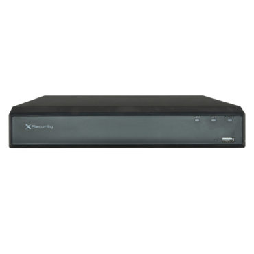 XS-XVR3104-H1: DVR 5n1 X-Security - 4 CH HDTVI / HDCVI / AHD / CVBS / 4+1 IP - 1080N/720P (25FPS) | H.265 - Alarms and Audio All-over-Coax - Full HD HDMI and VGA Output - Supports 1 hard disk