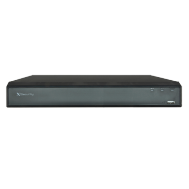 XS-XVR8116A-4KL-IH: X-security 5n1 recorder 4K IoT - 16 CH HDTVI/HDCVI/AHD/CVBS, up to 32 CH IP (8Mpx) - Recording Resolution 4K(7FPS) / 4M-N/1080p(25FPS) - All-over-coax | POS function - Outputs 4K HDMI & VGA - Supports 1 hard disk