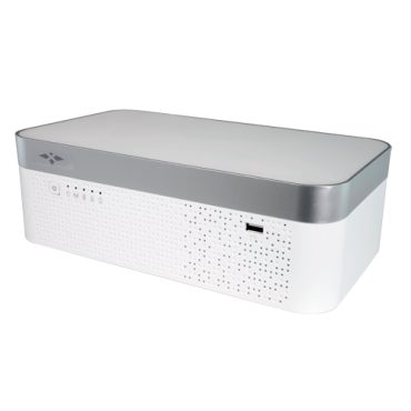 XS-XVR8104MB-4KL-IH: X-security 5n1 recorder 4K IoT - 4 CH HDTVI/HDCVI/AHD/CVBS / Up to 8 CH IP (8Mpx) - Recording resolution 4K (15FPS) and 4MPx/1080p (25FPS) - Integrated battery - Outputs 4K HDMI & VGA - Supports 1 hard disk