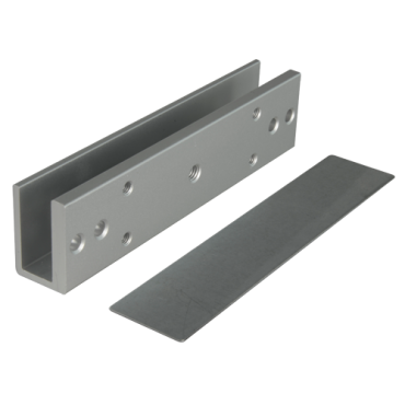 VT-YF-280U: U profile for magnetic locks - Compatible with VT-YF280XX - Opening both exterior and interior - For glass doors without frame - Glass thickness between 8-15mm - Made in duralumin