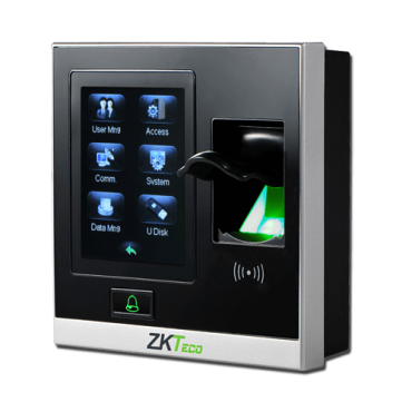 ZK-AC400MF: Access and Attendance control - Fingerprints, keypad and Mifare cards - 1.500 recordings / 80.000 records - TCP/IP, USB, RS485, Wiegand & Relay - Valid for interior - ZKAccess Software 3.5 | ZkTimeNet 3.0
