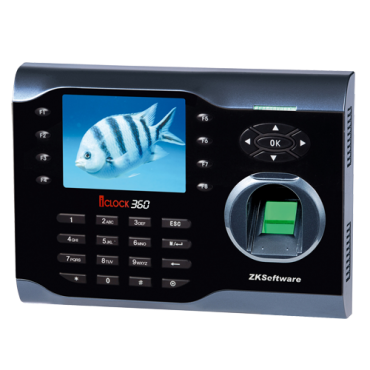 ZK-ICLOCK360: Time & Attendance control - Fingerprints, EM RFID card and keyboard - 8.000 recordings / 200.000 records - TCP/IP and USB - Function buttons for time & attendance - ZkTimeNet 3.0 Lite | ZkTimeNet 3.0