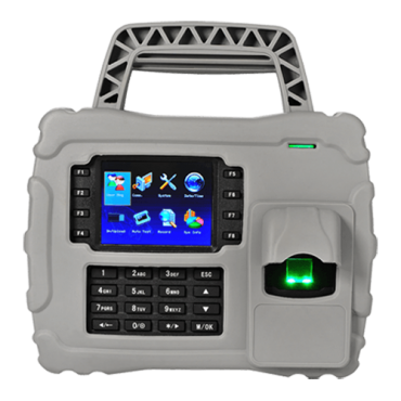 ZK-S922: Portable Time & Attendance Control - Fingerprints, EM RFID card and keyboard - 5.000 recordings / 200.000 records - TCP/IP and USB | Suitable for outdoor IP65 - Function buttons for time & attendance - ZkTimeNet 3.0 Lite | ZkTimeNet 3.0