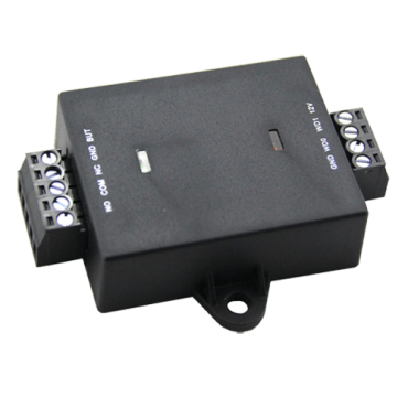 ZK-SRB : Anti-tamper controller ZKTeco - For stand-alone installations - Wiegand encrypted and push-button inputs - NO / NC relay output - Opening time control - DC 12 V power supply