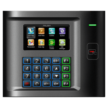 ZK-US10C-RF: Time & Attendance control - EM RFID card and keypad - 5.000 recordings / 100.000 records - TCP/IP, RS232 & USB - Time & Attendance control mode management - ZkTimeNet 3.0 Lite | ZkTimeNet 3.0