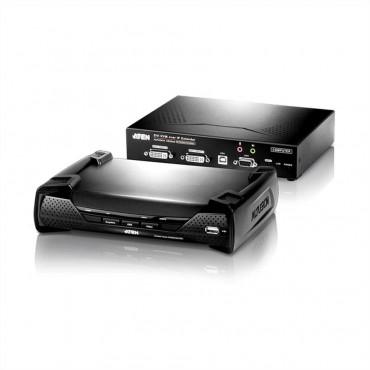 KE6940 : DVI KVM Over IP Extender - 2 x DVI-I, USB, RS-232, 1920 x 1200 @ 60Hz, DC 5V (KE6940T + KE6940R) (2 pcs / set)