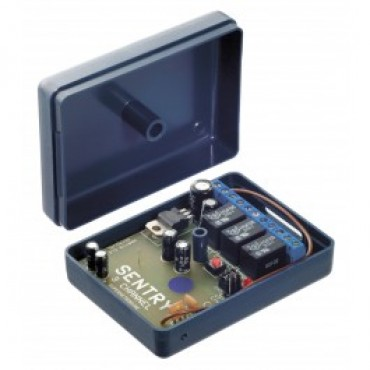 ML-001-R123: 3-channel receiver - 12-24V AC / DC - NO / NC / COM - continuous or pulse contact - time setting (0.5 - 60 sec.)