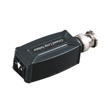 TGP001 : Twisted Pair Video Ground Loop Isolator, BNC male to screw terminal block